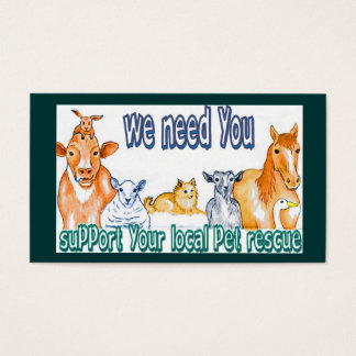 Business Cards,customizable pet rescue Business Card