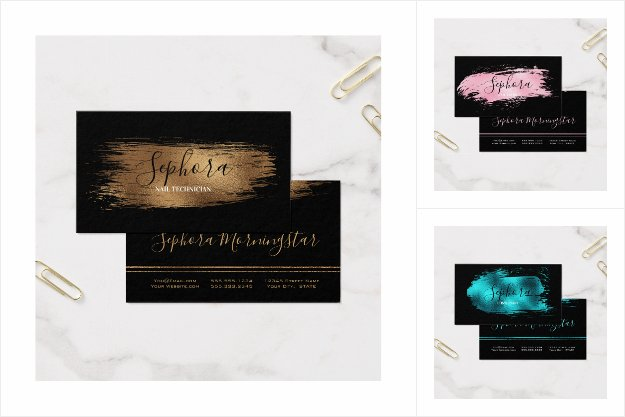 Business Cards | Elegant Metallic Foil