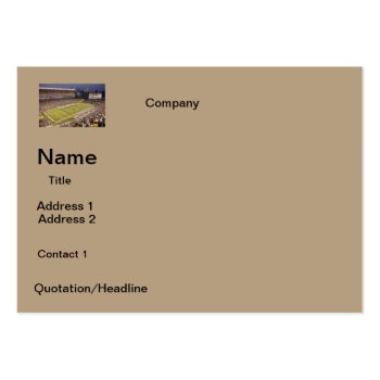 Business Cards  Football Stadium  Design by CREATIVEforBUSINESS at Zazzle