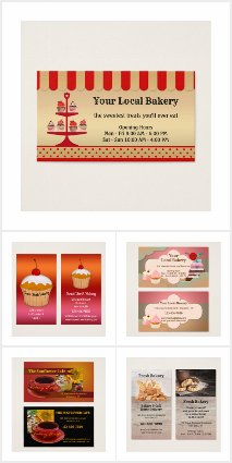Business Cards for Bakeries