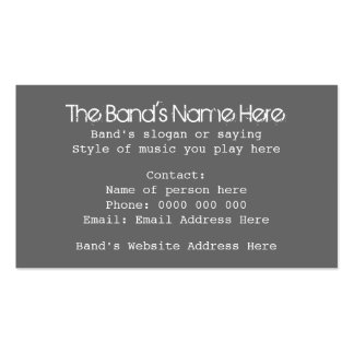 Business Cards for Bands with Skull Design. Custom