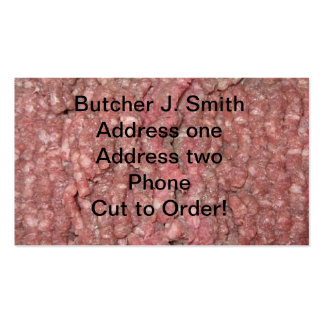 Business cards for butcher
