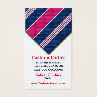 Business Cards For Clothier Mens Fashion