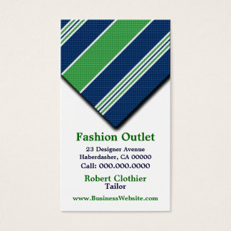 Business Cards For Clothier Mens Suits