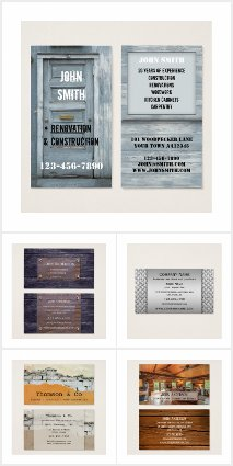 Business cards for construction and building