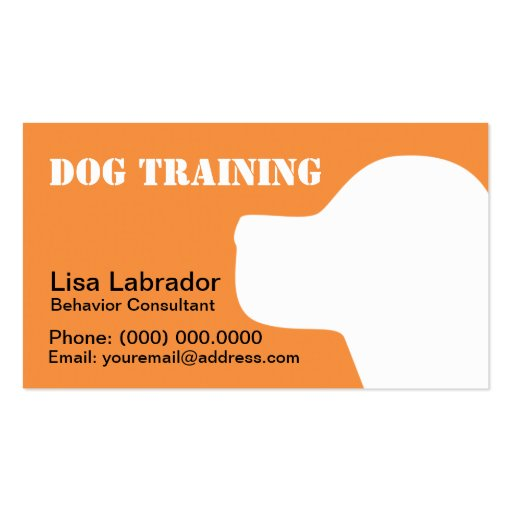 Business Cards For Dog Trainers