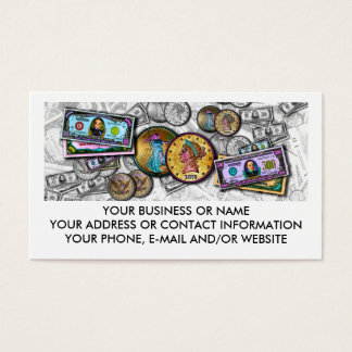 Business Cards for Money Movers - Big Bucks PopArt