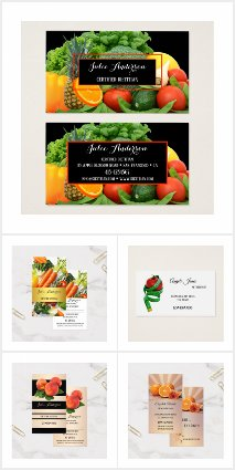 Business Cards for Nutritionists and Dietitians