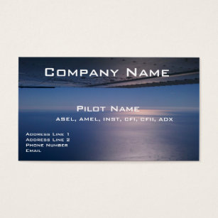 Aviation business cards templates zazzle business cards for pilots and aviators reheart Gallery