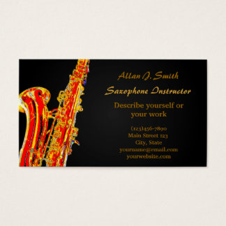 Business cards for saxophonists