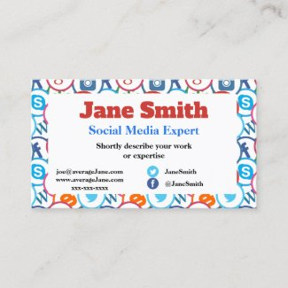 Business Cards for social media expert
