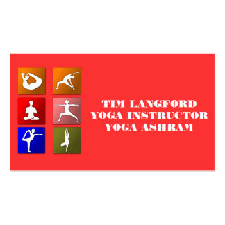 BUSINESS CARDS FOR YOGA INSTRUCTOR