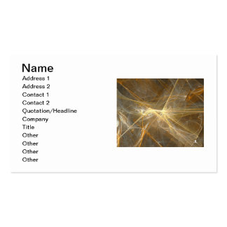 Business cards - golden glow