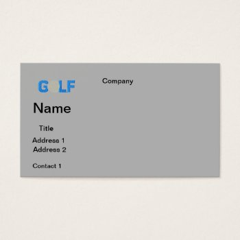 Business Cards Golf  Design by CREATIVEforBUSINESS at Zazzle