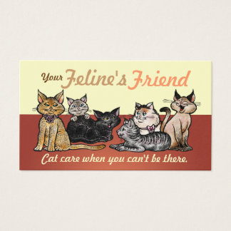 Business Cards Happy Cats Two Sided Customizable