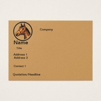 Business Cards   Horse  Design by CREATIVEforBUSINESS at Zazzle