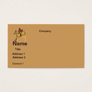 BUSINESS cards HORSE RIDING  DESIGN