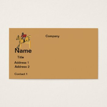 Business Cards Horse Riding  Design by CREATIVEforBUSINESS at Zazzle
