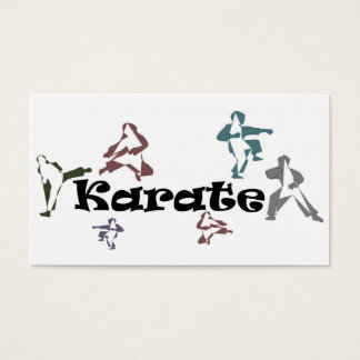 business cards karate black belt sensei