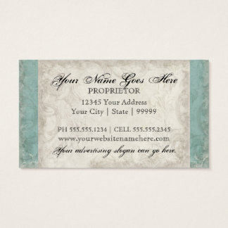 Business Cards - Key to my Heart, Doves Swirl