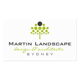 business cards > landscaper  [lime : charcoal]
