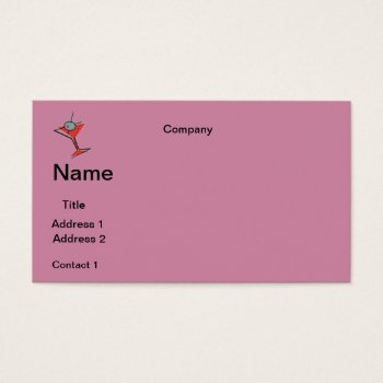 Business Cards Martini Design by CREATIVEforBUSINESS at Zazzle