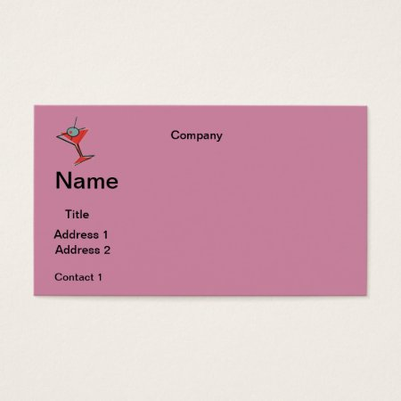 Business Cards Martini Design
