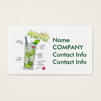 BUSINESS CARDS - MOJITO RECIPE COCKTAIL ART
