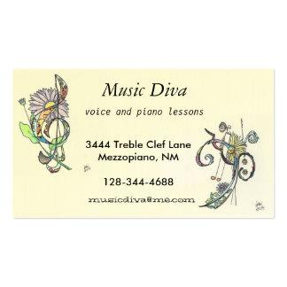 business cards:  music diva
