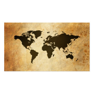 Business Cards Old Map Globe