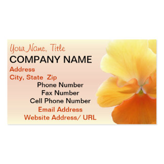 Business Cards - Orange Pansy