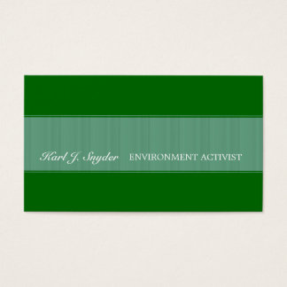 Business Cards - Organic Green