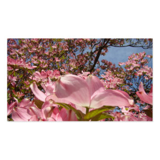 Business Cards Pink Dogwood Flowers Spring Mom
