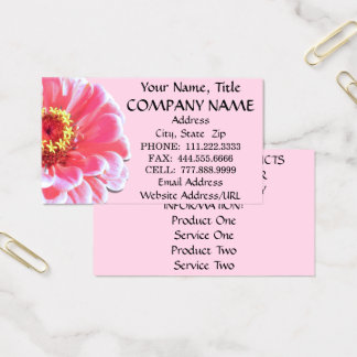 Business Cards - Pink Zinnia