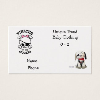 Business Cards: Pirates in the Crib Business Card