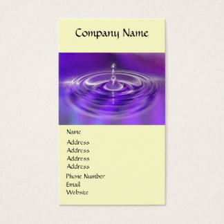 Business Cards - Purple Water Drop