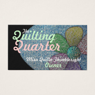 Business Cards Quilting Two Sided Customizable