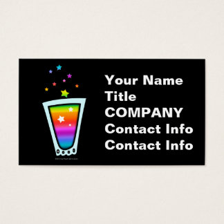 BUSINESS CARDS - RAINBOW SHOT GLASS