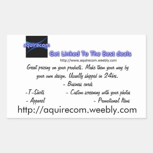 Business Cards Rectangular Sticker