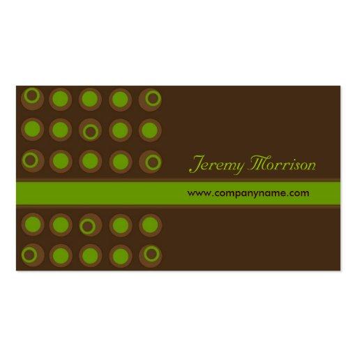 Business Cards - Retro Dots