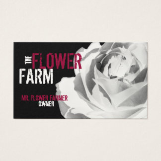 Business Cards Rose Photo Flower White Template