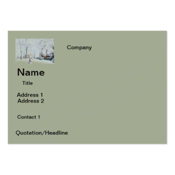 Business Cards  Snow  Design by CREATIVEforBUSINESS at Zazzle