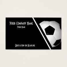 Business Cards Soccer / Football at Zazzle