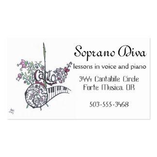business cards:  soprano diva