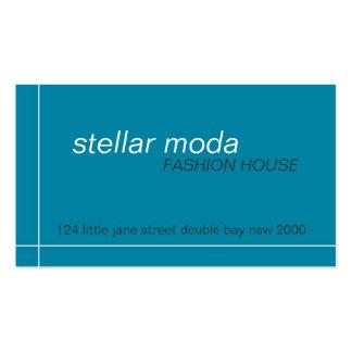 business cards > stellar moda [teal+charcoal]