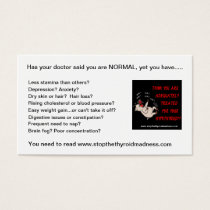 BUSINESS CARDS to PASS OUT - Stop Thyroid Madness