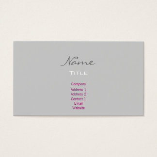 Business Cards- Trendy Fashion Grey/Black Business Card