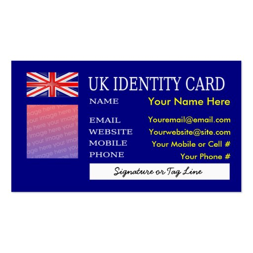 Business cards uk id card zazzle for Uk business cards