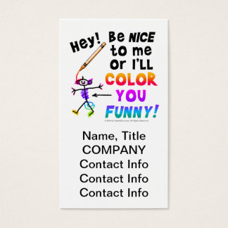 Business Cards, Vertical - Color You Funny Business Card