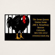 Business Cards Victorian Woodcut Rooster